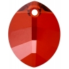 Swarovski Pendant 6734 Pure Leaf 14mm Red Magma Crystal